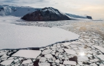 Helicopter flight: Ross Sea coast and Coulman Island, Antarctica