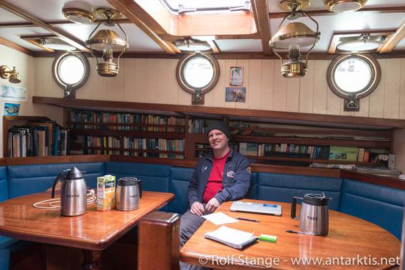 Rolf on board Anne-Margaretha, Ushuaia